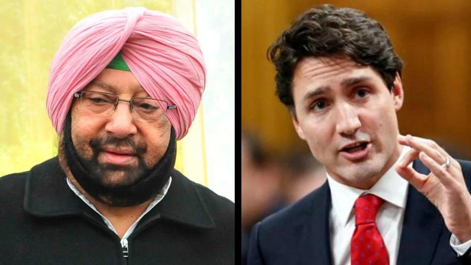 Justin Trudeau,Captain Amarinder Singh