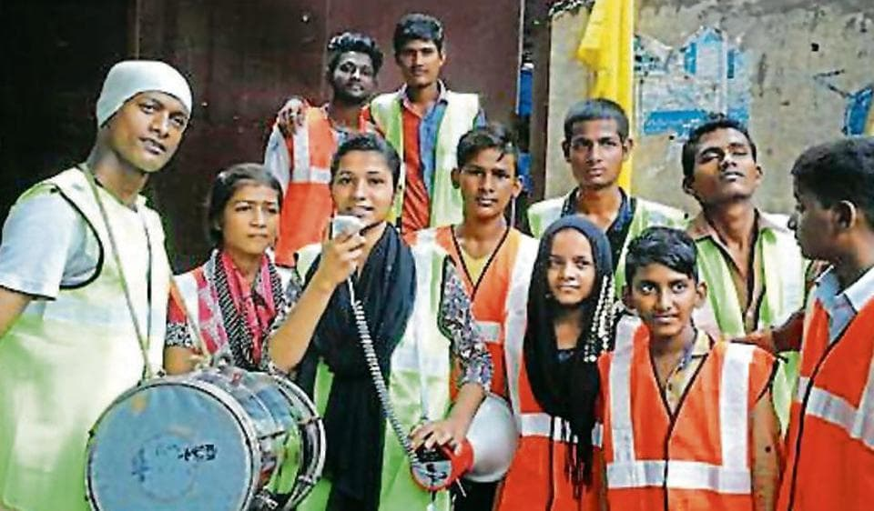 The slum kids will perform at Sophia college on Monday.