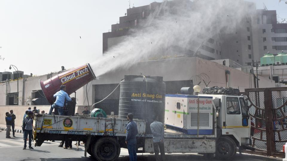 The anti-smog gun was flagged by Delhi environment minister Imran Hussain on Monday.