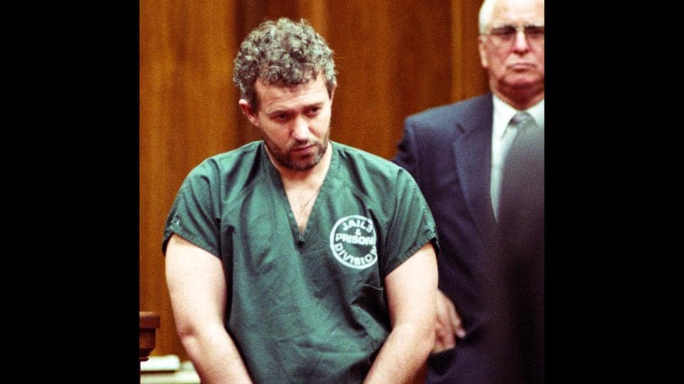 In this June 23, 1995 file photo, former English football coach and recruiter Barry Bennell appears in a Duval County courtroom in Jacksonville, Florida. Bennell, a former coach at Crewe Alexandra FC and scout for Manchester City, was convicted on Monday, Feb. 19, 2018 at Liverpool Crown Court of 50 child sexual offences committed between 1979 and 1991.