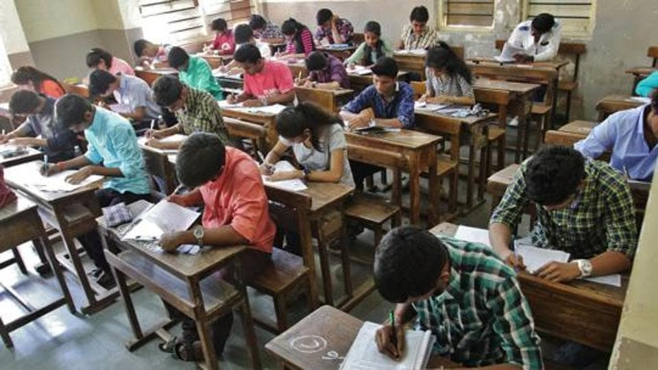 The Class 12 state board examination began on Monday amid reports of question paper leak on social media.