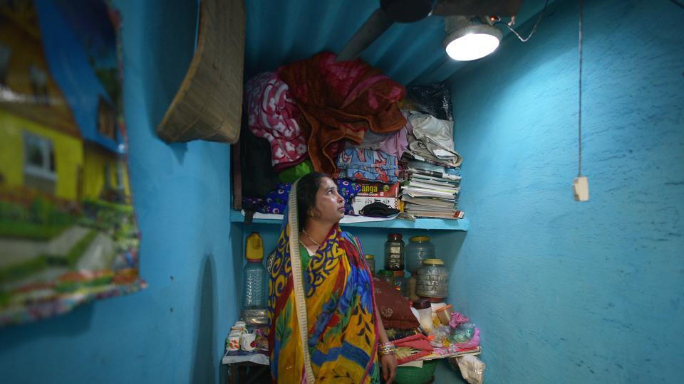 A micro solar dome installed inside a house at Lal bagh village, Azadpur