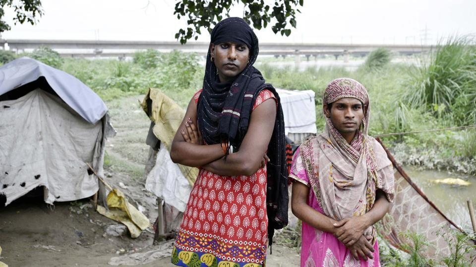 A portrait of Kajal and her friend Maya from a 2016 HT series on Delhi's homeless.