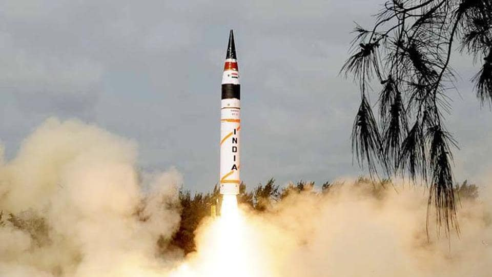 The two-stage missile, Agni II, equipped with advanced high accuracy navigation system which is guided by a novel scheme of state-of-the-art command and control system, was propelled by solid rocket propellant system.