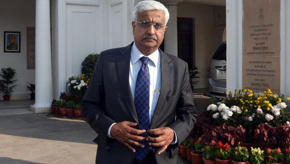 Delhi chief secretary Anshu Prakash at the Vidhan Sabha. The AAP, in its response, has said Prakash used derogatory language against its MLAs, who questioned him about problems in ration delivery.