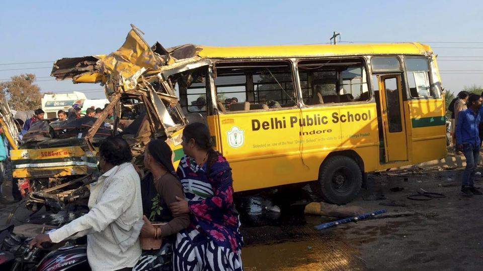 Indore school bus accident,Indore,DPS bus accident