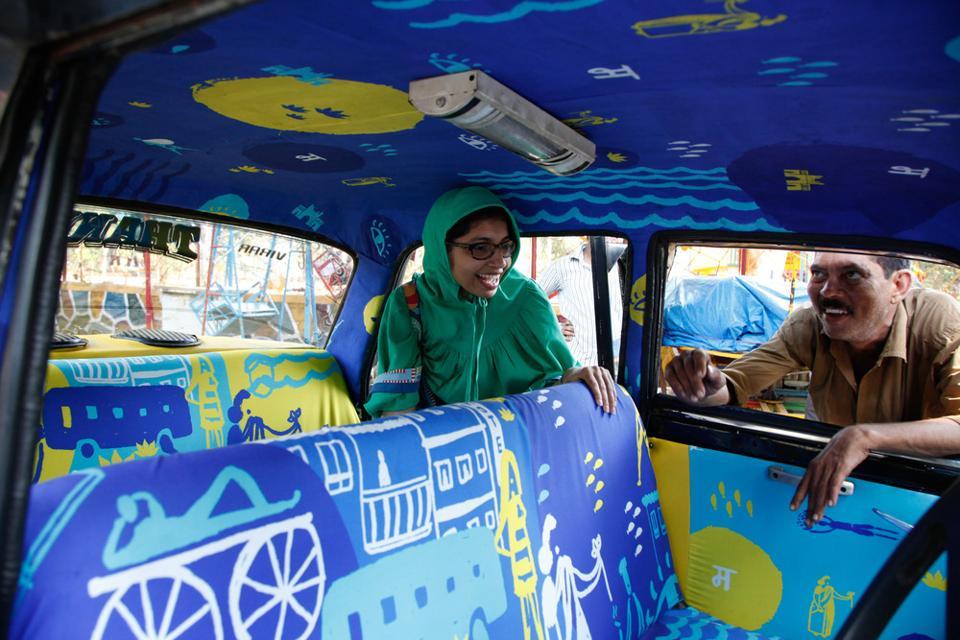 Kaali-peeli,taxis,autorickshaws