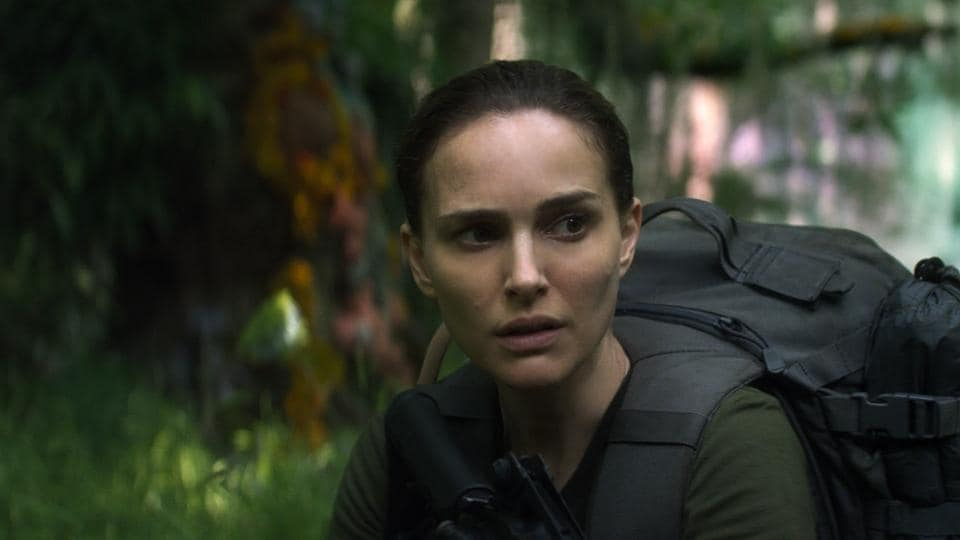 This image released by Paramount Pictures shows Natalie Portman in a scene from Annihilation.