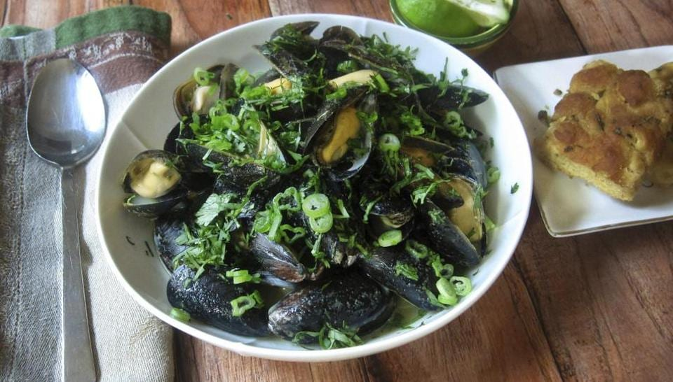 Steamed mussels,Food,Recipe