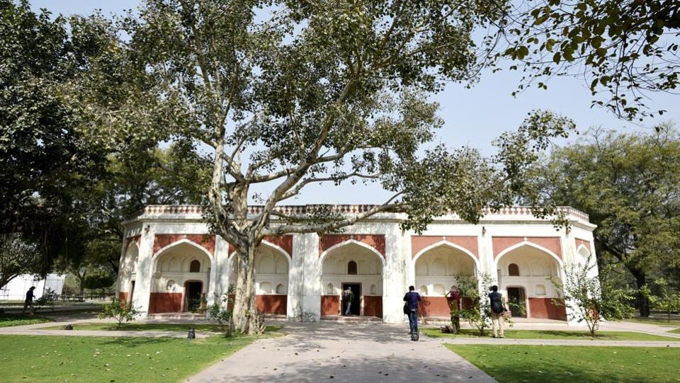 "A long view of the Sunderwala Mahal after restoration. ""Landscape architect Late M Shaheer redesigned this park. The landscaping of the park includes Delhi's first arboretum, an amphitheatre, ponds and lakes, nursery beds, a flower showcase, rose gardens and orchards,"" Ratish Nanda added. (Vipin Kumar / HT Photo)"