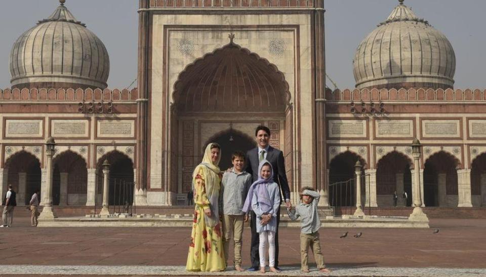 Justin Trudeau,Canadian PM,Jama Masjid