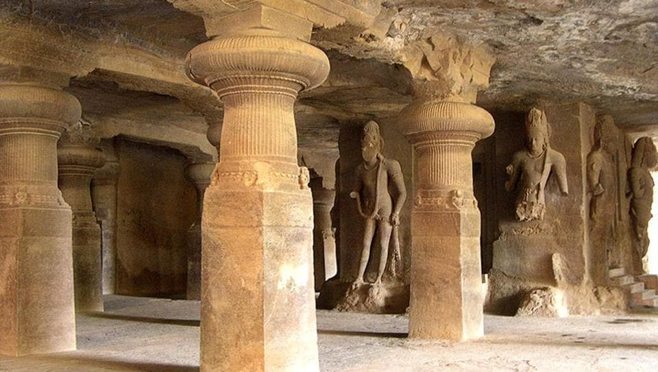 One of the caves on Elephanta Island.