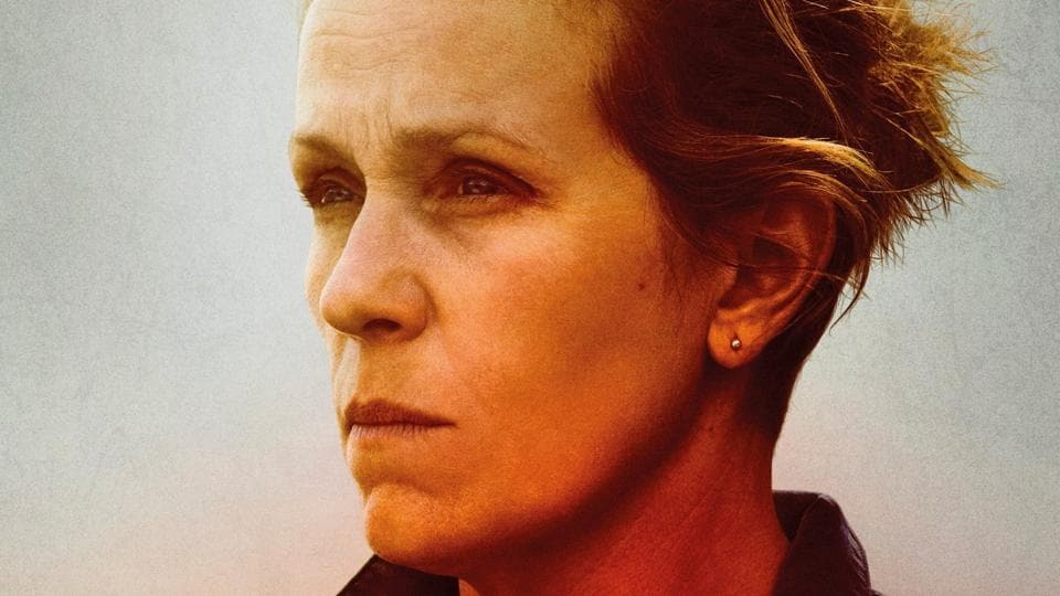 Frances McDormand plays Mildred Hayes in Three Billboards Outside Ebbing, Missouri.