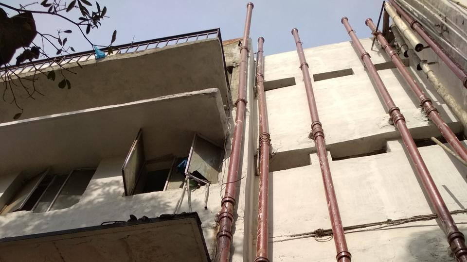 Naraina police station building from where Dalbir Singh allegedly jumped