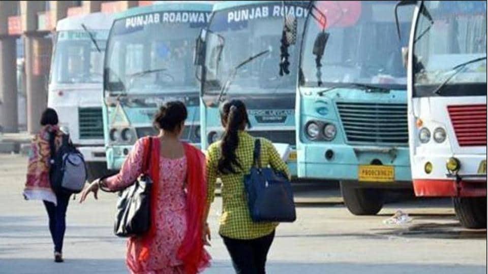 Punjab Roadways,buses off road,staff observe strike