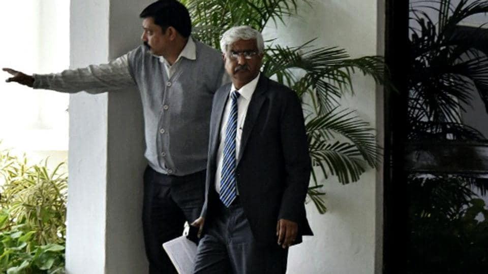 Delhi chief secretary Anshu Prakash after a meeting with L-G Anil Baijal.