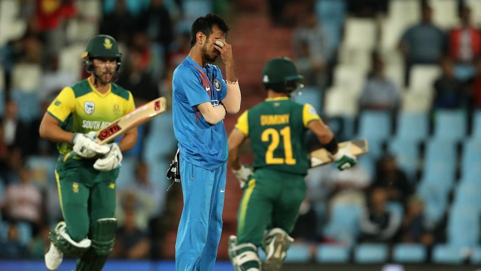 Yuzvendra Chahal had a horror day as South Africa defeated India by six wickets in the Centurion Twenty20 International to stay alive in the three-match series. (BCCI)