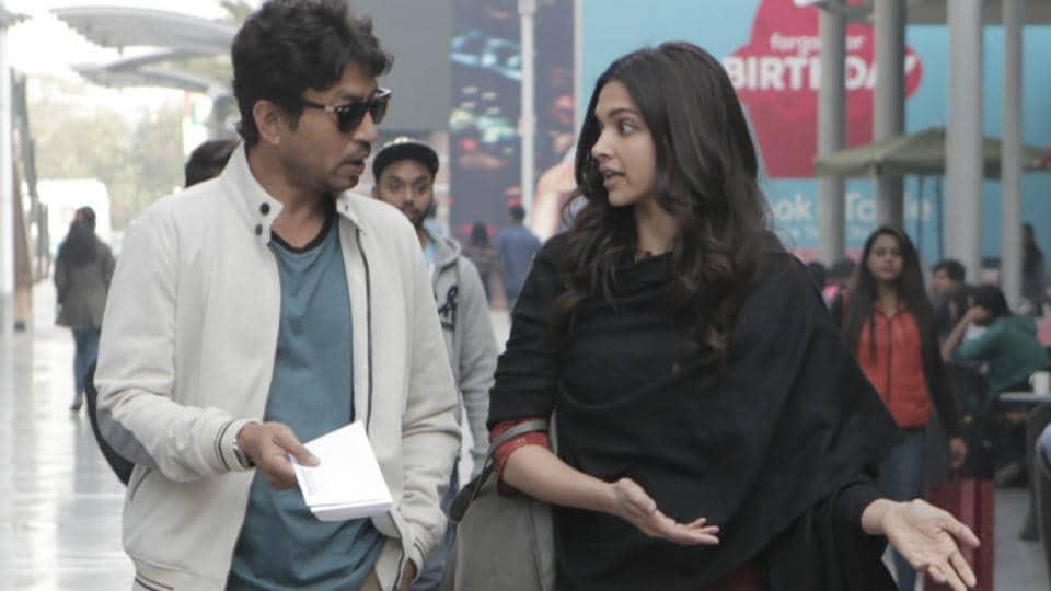 Irrfan Khan and Deepika Padukone in a still from Piku.