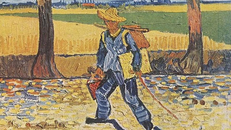 The Painter on the Road to Tarascon,Arnab Nandy,Vincent van Gogh