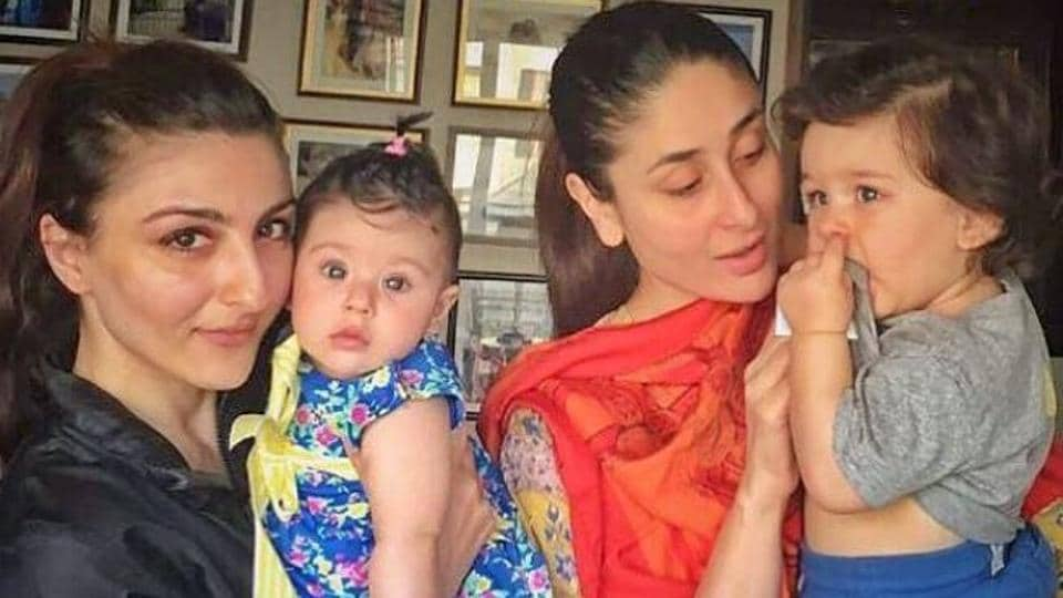 Kareena Kapoor's son Taimur Ali Khan's play date with cousin, Soha Ali Khan's daughter Inaaya, just made our Saturday better.