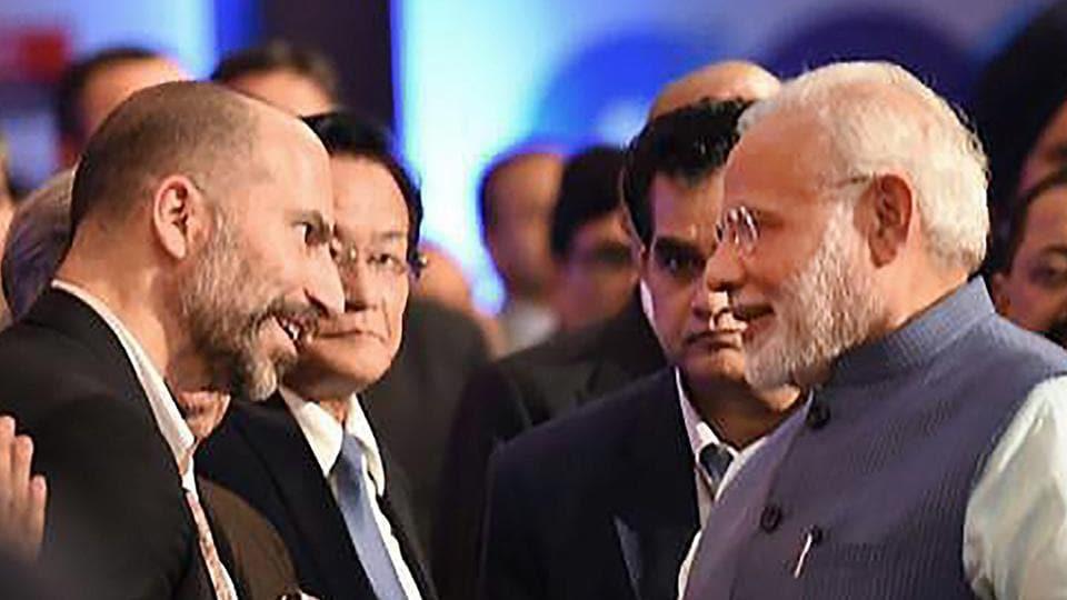 Uber CEO,PM Modi,Narendra Modi