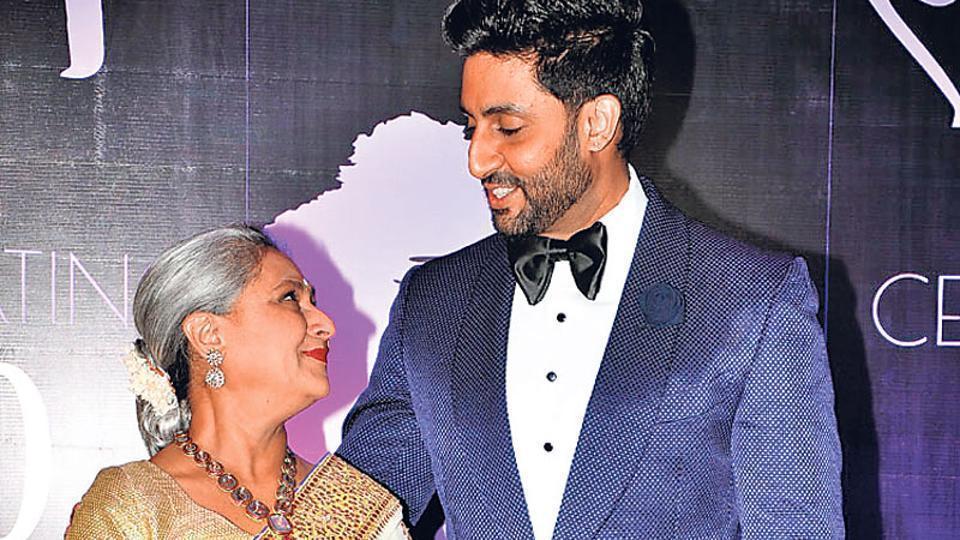 Jaya Bachchan,Abhishek Bachchan,Karan Johar