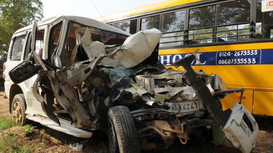 ACCIDENT,collision,Pataudi