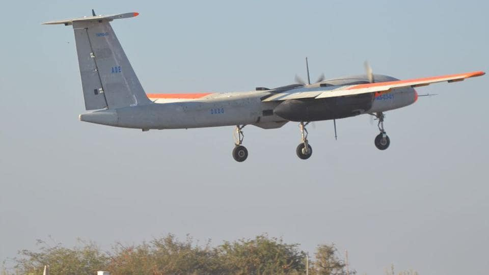DRDO,Test flight of Rustom,Rustom 2 drone