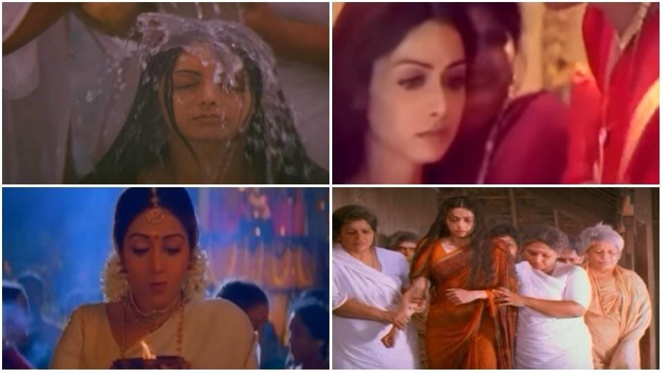 Sridevi played the role of Lakshmi in her 1996 Malayalam film, Devaraagam.