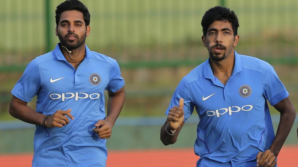 Bhuvneshwar Kumar (L) and Jasprit Bumrah (R) have turned into potent forces for India in the death overs.
