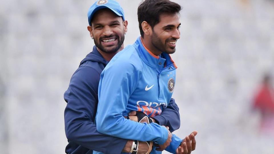 Bhuvneshwar Kumar,Shikhar Dhawan,Indian cricket team