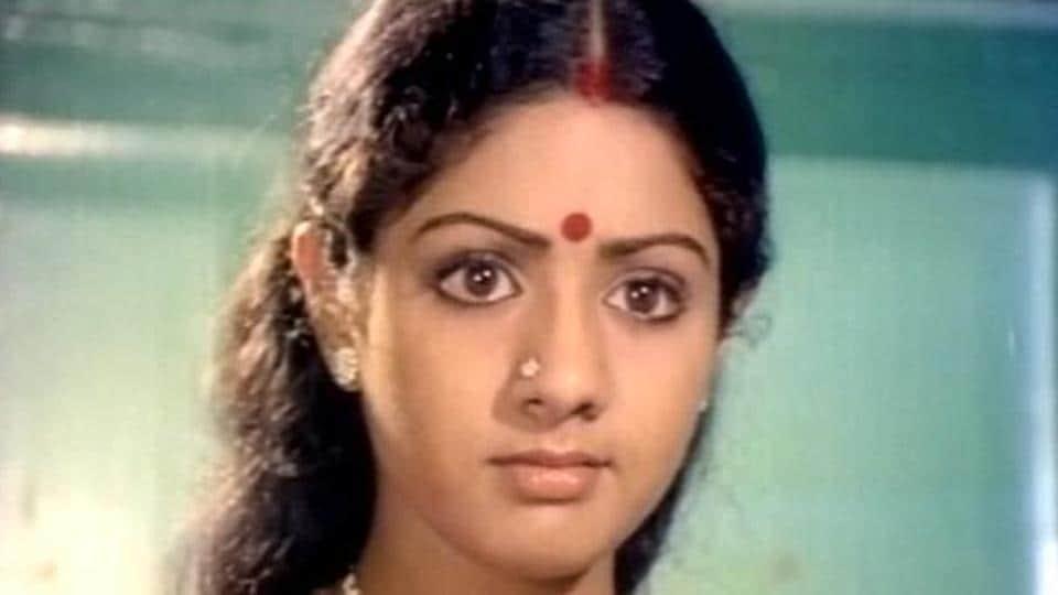 Sridevi in a still from the film Meendum Kokila.