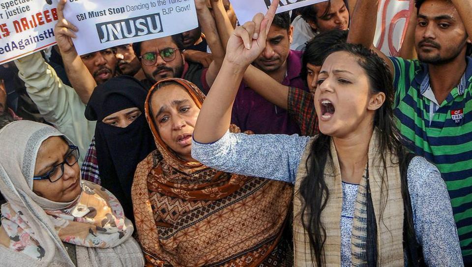 Najeeb Ahmed,JNU,JNU Students protest