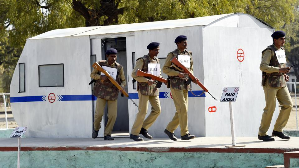 """We call it competence-based training (CBT) where the recruit is trained in a real environment. Whenever a CISF constable joins the force, they undergo rigorous training. Then when the posting for Delhi Metro comes, the constable has to undergo refresher course so that they can understand the Metro system."" said Saroj Malik, DIG of the Deoli training centre. (Arvind Yadav / HT Photo)"