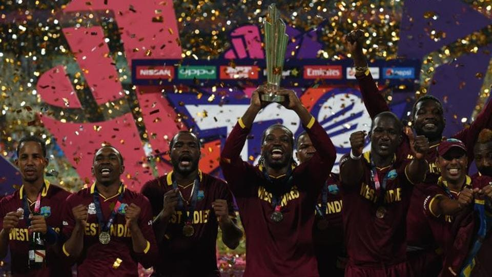 West Indies won the last edition of the ICC World Twenty20 in 2016 which was held in India.