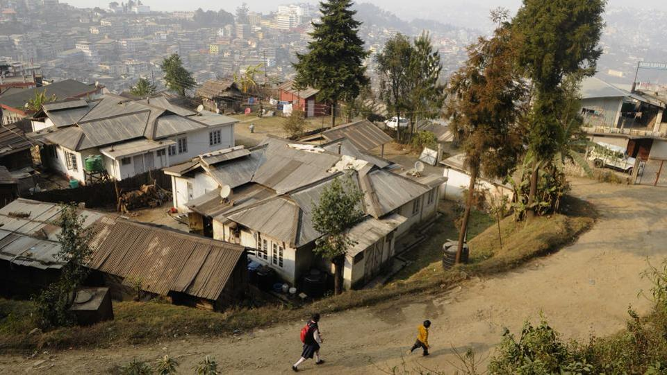 A long view of Kohima city before the Assembly Elections in Nagaland, India. (Samir Jana / HT Photo)
