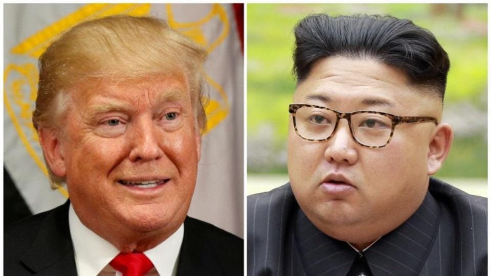 A combination photo of US President Donald Trump and North Korean leader Kim Jong Un.
