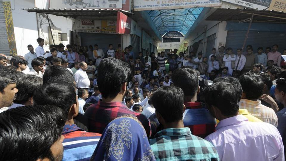 Bhangel murder,Bhangel trader murder,trader protest