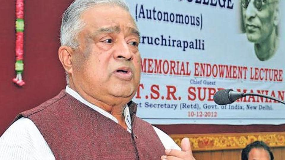 TSR Subramanian,TSR,UP
