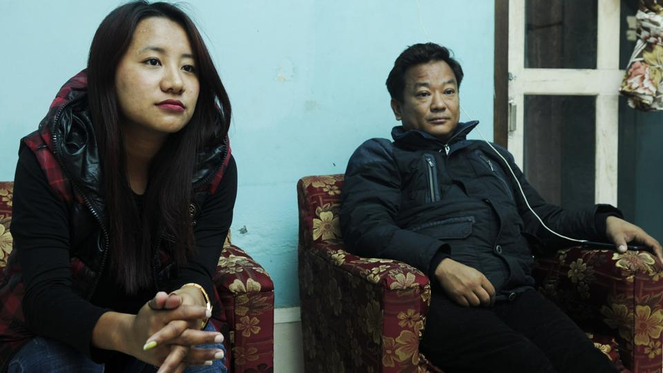 "Wedie U Kronu , a National People's Party candidate for the Dimapur III seat, outlines her agenda that will focus on youth and development. Next to her is her husband Roland Lotha. ""We don't remember having so many women candidates,"" says the state's chief electoral officer Abhijit Sen. (Samir Jana / HT Photo)"