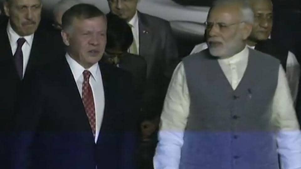 Jordan,Modi,King Abdullah