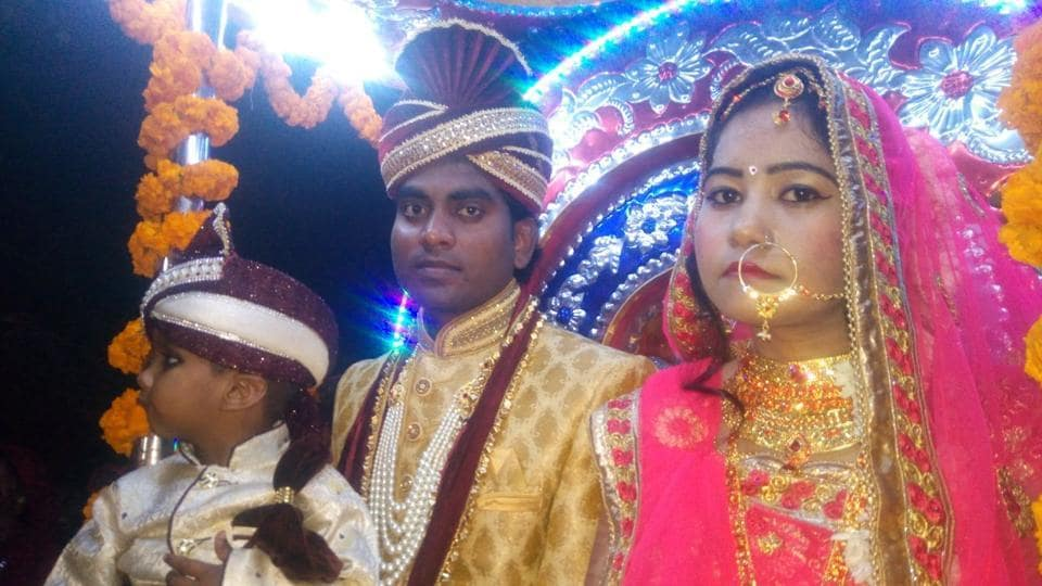 Bride takes 'band, baja, baaraat' to groom's place in