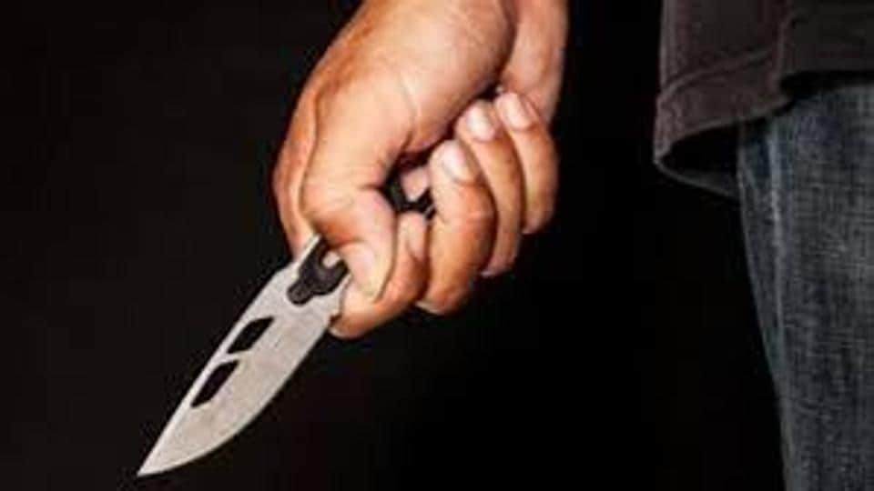 A 30-year-old man was arrested  on Monday  for attacking his wife with a blade near Mankhurd railway station.