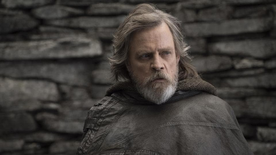 This file image released by Lucasfilm shows Mark Hamill as Luke Skywalker in Star Wars: The Last Jedi.