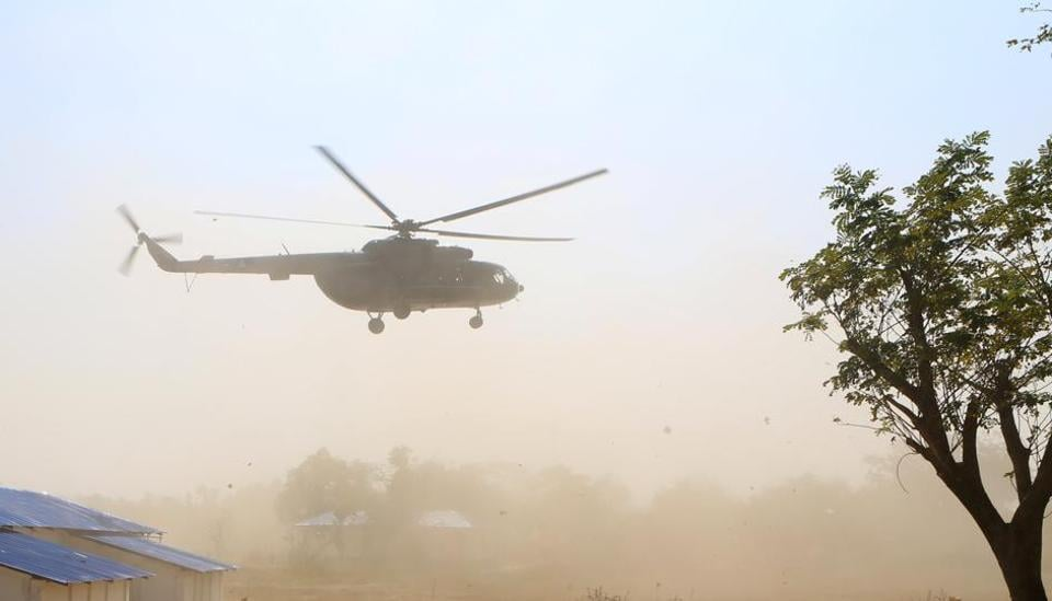 According to sources, security personnel detected smoke in a small bag in the chopper, minutes before it was supposed to take off from the helipad.