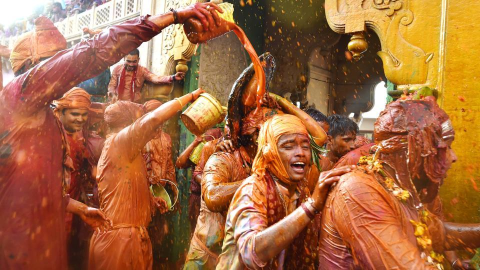 It is nigh impossible to escape the bursts of colour during the week long celebrations, punctuated with songs, dance and the drinking of thandai –all elements synonymous with Holi. (Ajay Aggarwal / HT Photo)