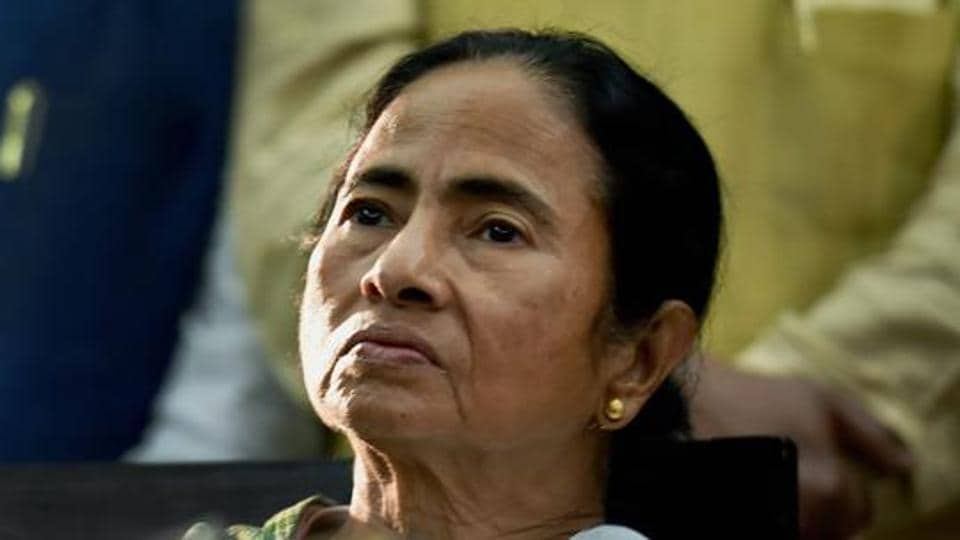 Bengal chief minister Mamata Banerjee interacts with media after presentation of the State Budget.