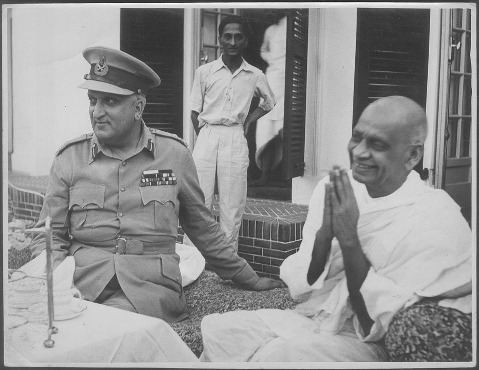 Sardar Patel with Maharaja Hari Singh, 1948. Hari Singh inherited and held together an extremely diverse geographical entity and its people