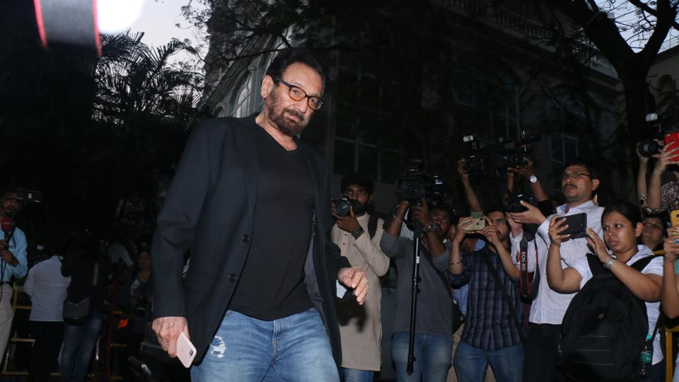 Director Shekhar Kapur arrives at Anil Kapoor's residence to meet the Kapoor family. (IANS)