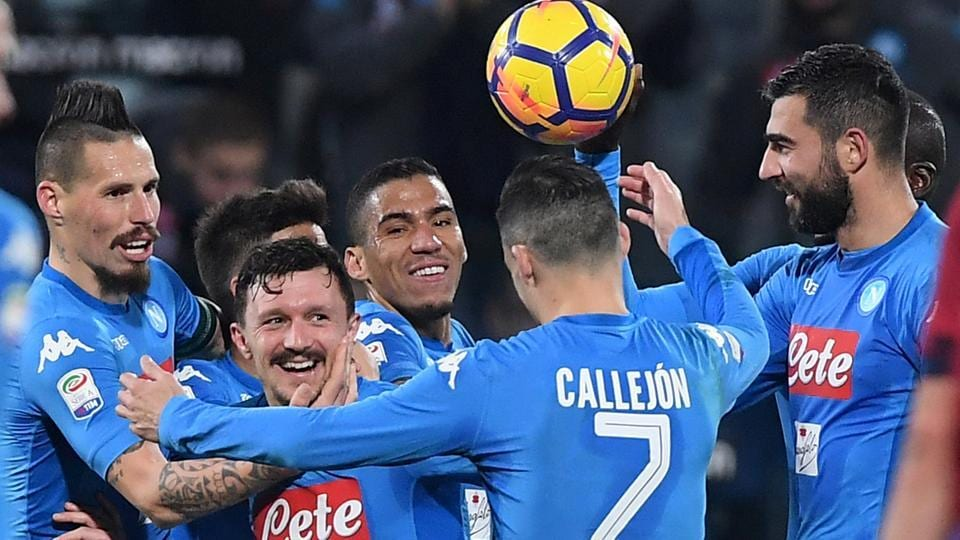 Napoli rout Cagliari for 10th straight win in Serie A